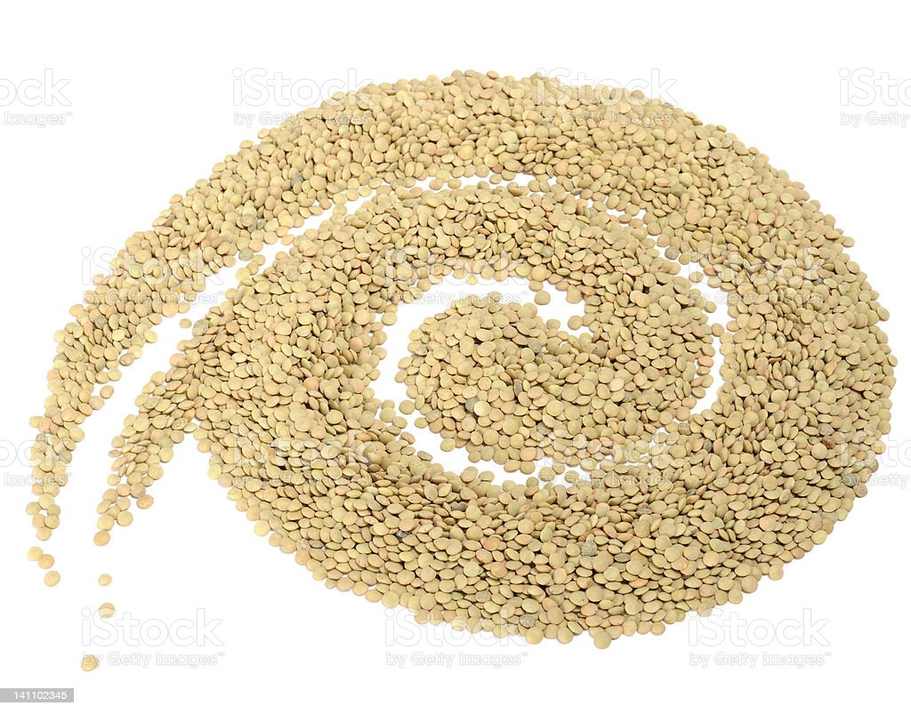 Spiral Made of Lentils royalty-free stock photo