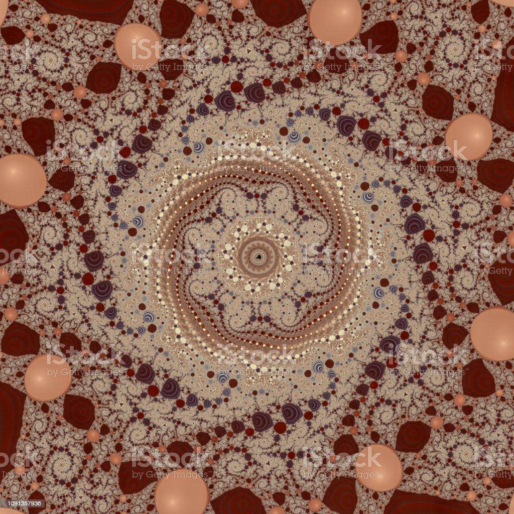 Spiral mania magnet fractal deep zoom brown pattern stock photo