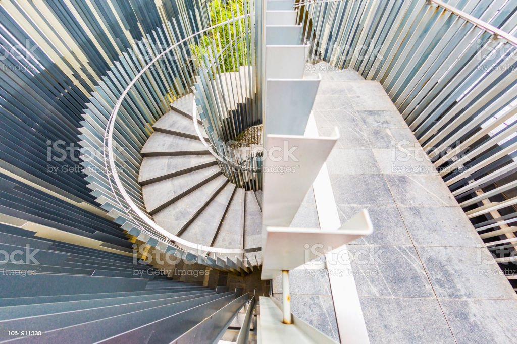 During the trip, take a metal stair railing downstairs in the...