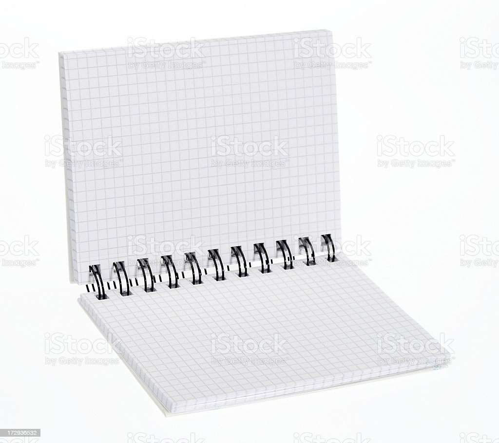 Spiral note book on white stock photo