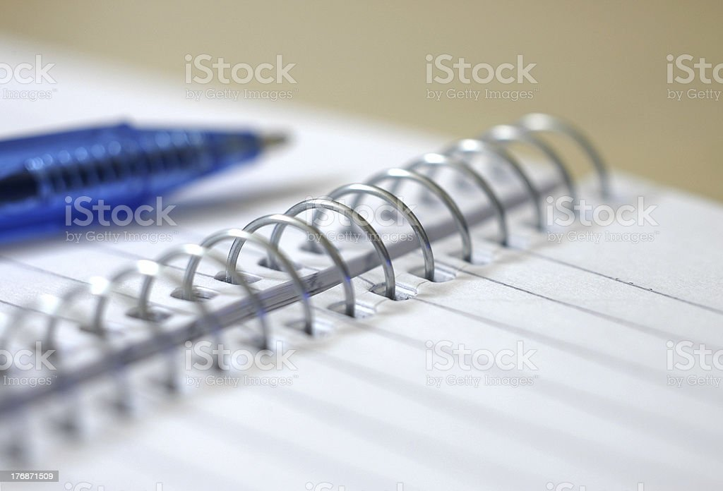 Spiral notebook 1 stock photo
