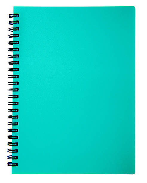 Spiral notebook isolated stock photo