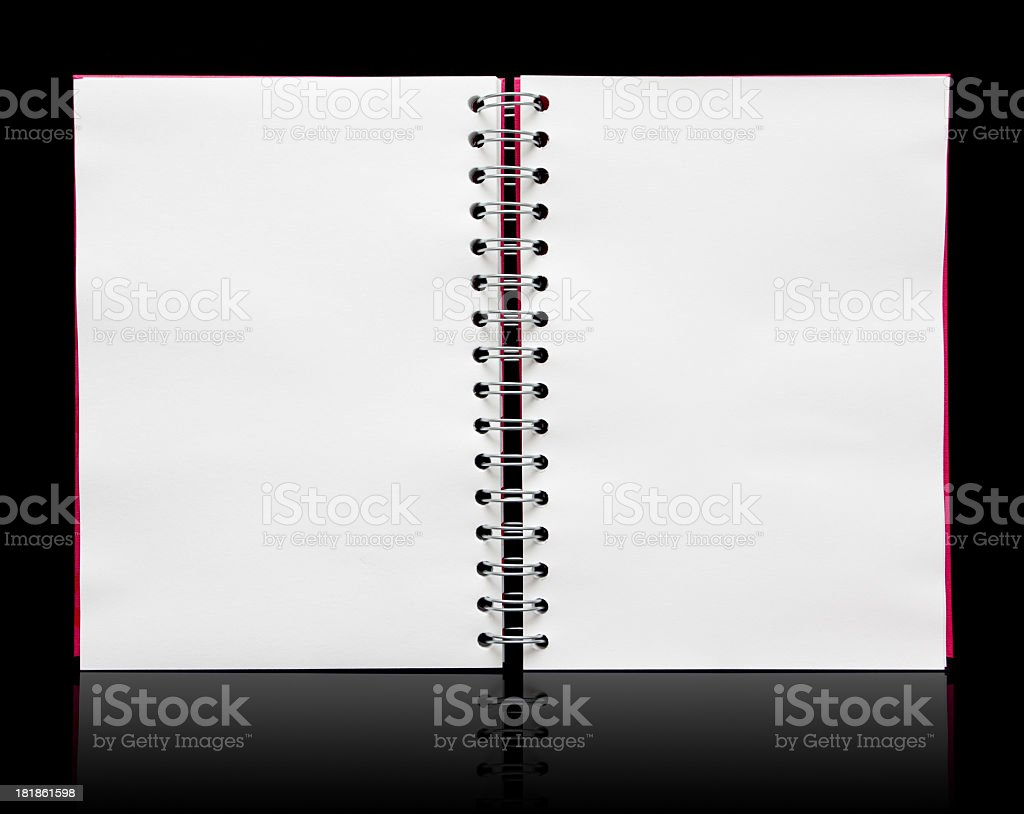 Spiral notebook paper textured background royalty-free stock photo