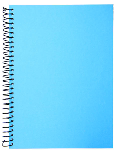 Spiral notebook stock photo
