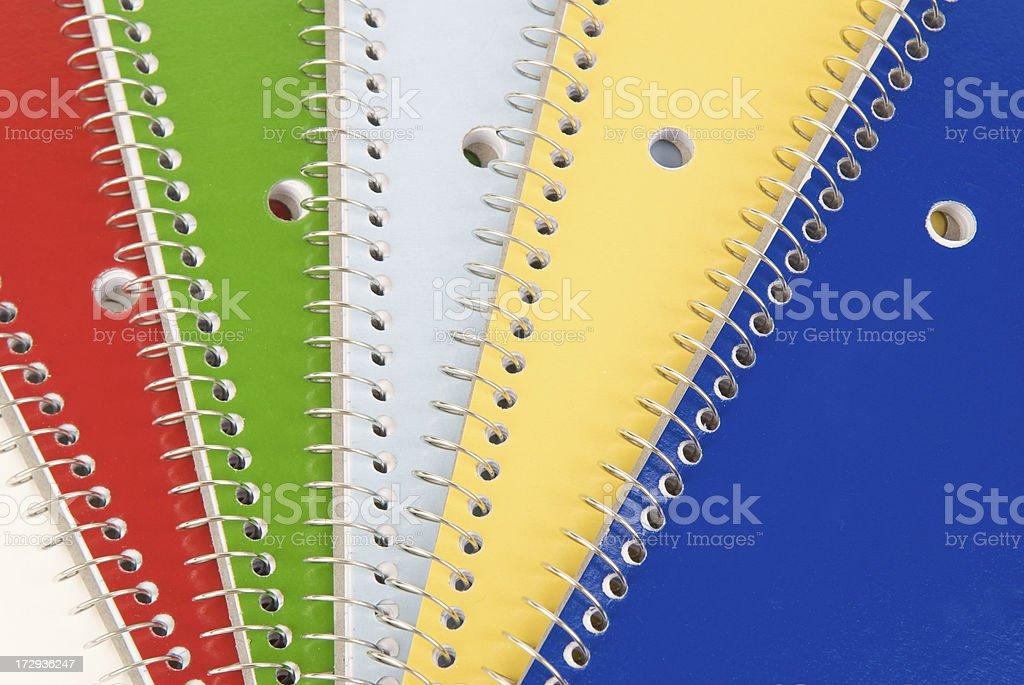 Spiral Notebooks Background stock photo