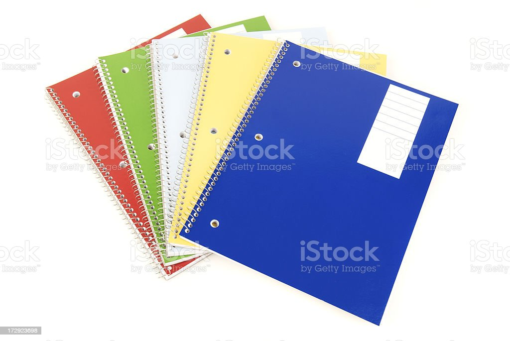 Spiral Notebooks with White Space royalty-free stock photo