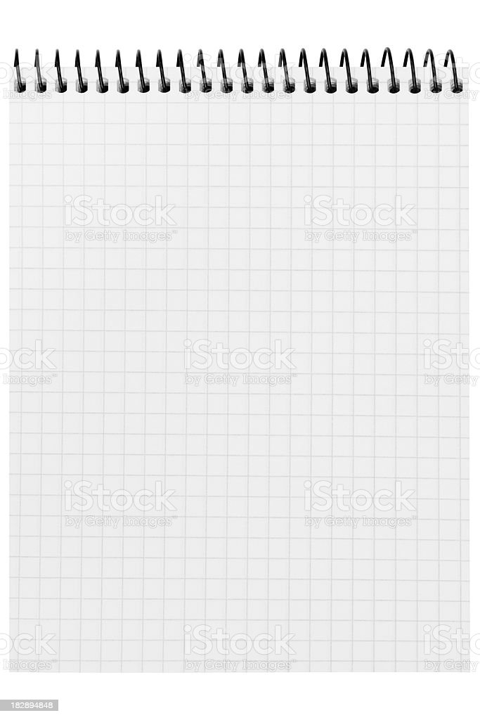 Spiral notepad stock photo