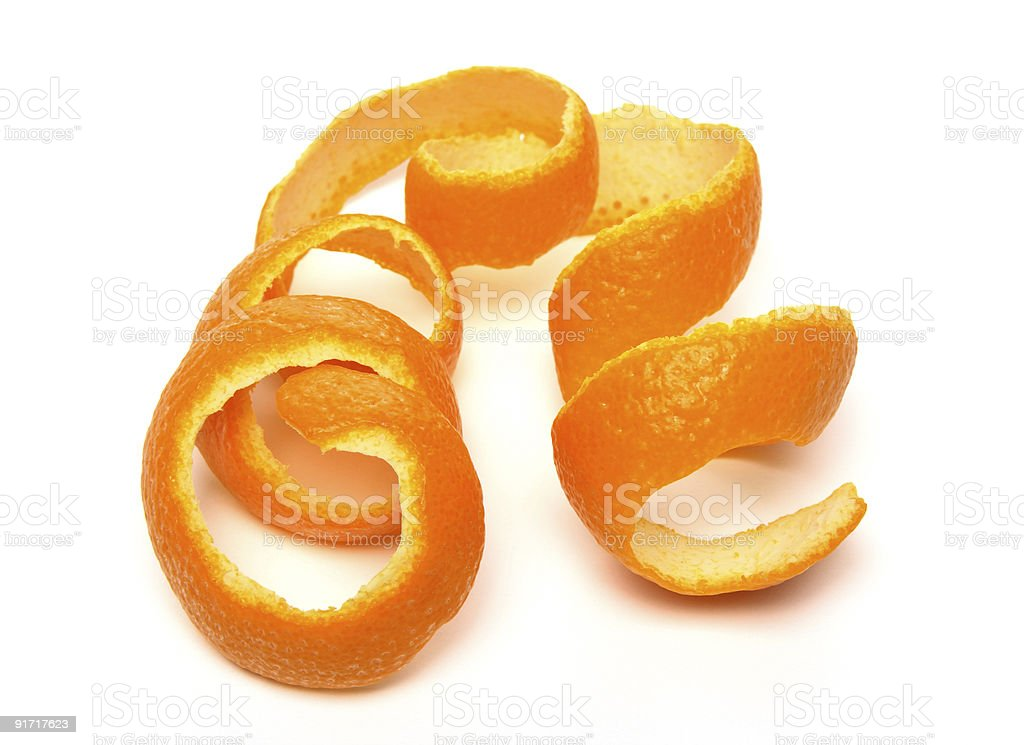 Spiral orange peel royalty-free stock photo