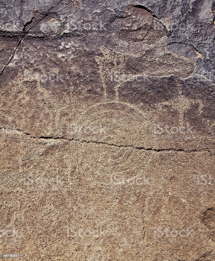 Spiral Pictogram - Petroglyph National Monument royalty-free stock photo