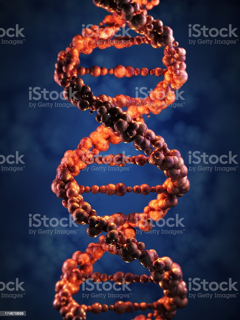 DNA spiral royalty-free stock photo
