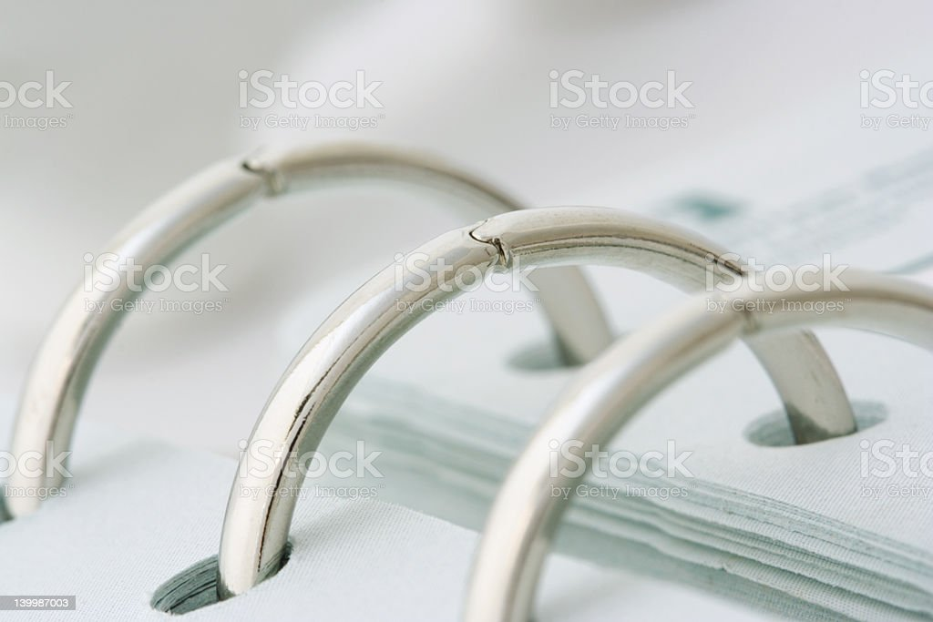 Spiral Rings of Notebook stock photo
