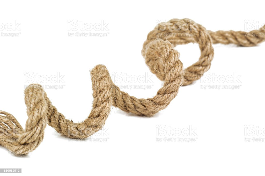 spiral rope on white stock photo