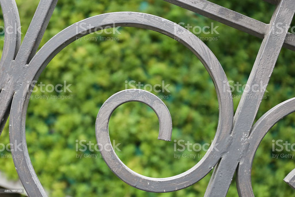 Spiral shape railing stock photo
