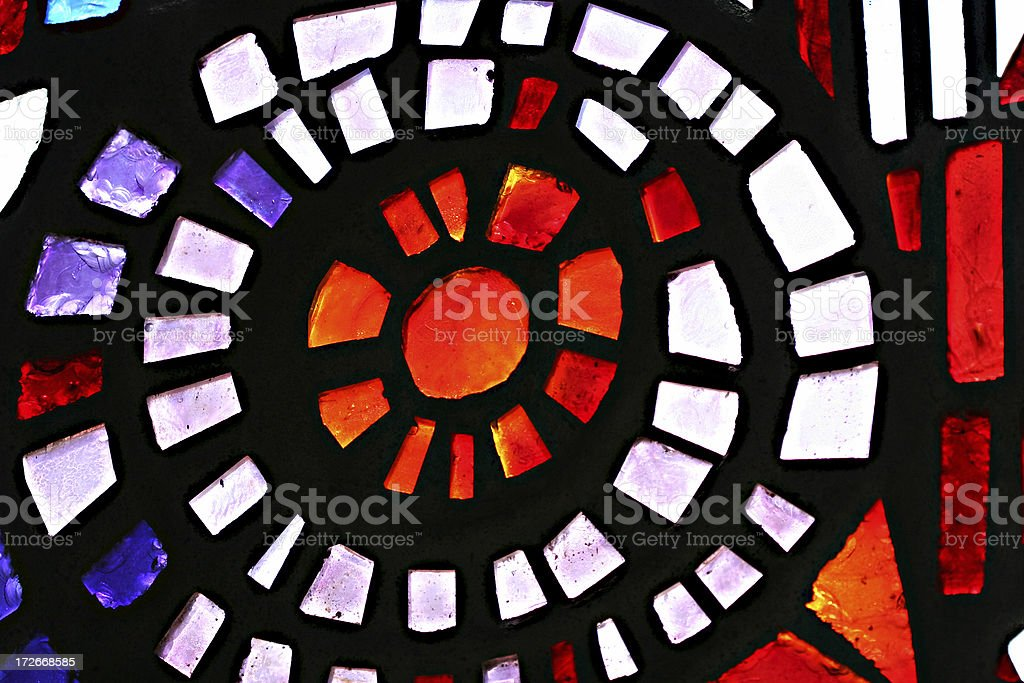 Spiral Stained Glass Detail stock photo