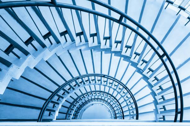 spiralförmige Treppe closeup – Foto