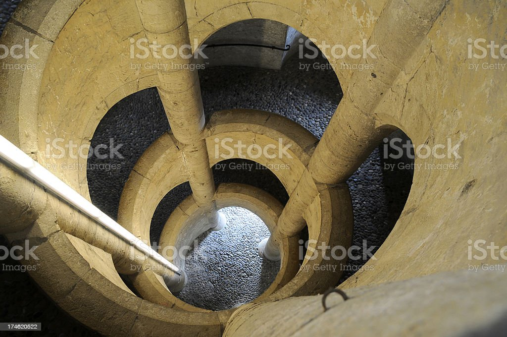 spiral staircase in Castel Munot, Schaffhausen stock photo