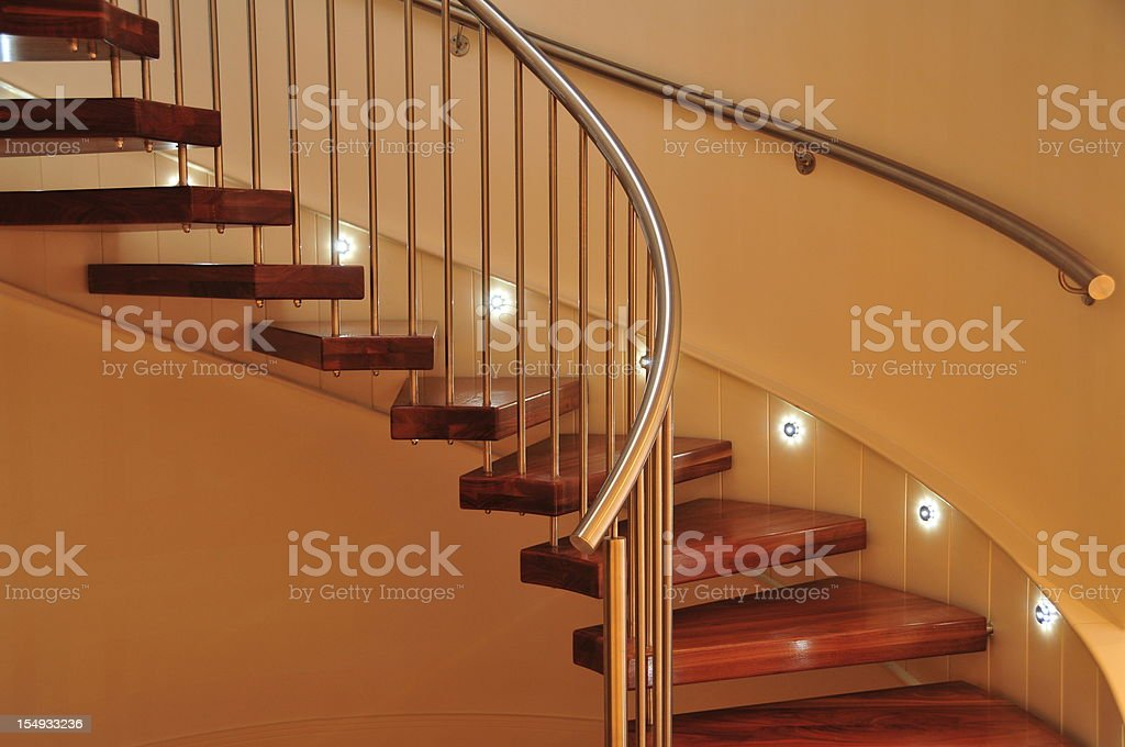 Spiral staircase, Jersey. royalty-free stock photo