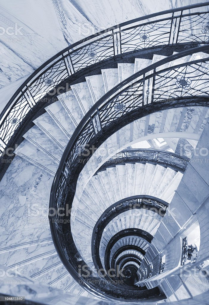 Spiral Staircase - look down from the inside tower
