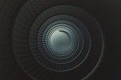 Spiral staircase. 3D generated image.