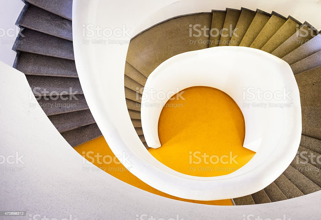 modern spiral staircase - indoors - photo