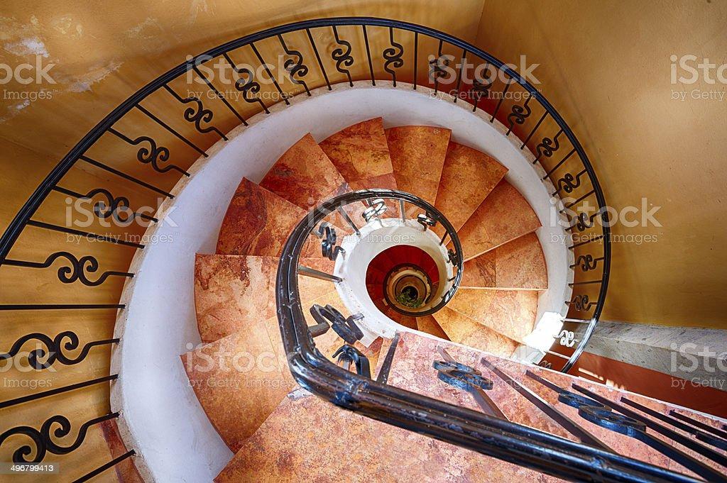Spiral Staircase stock photo