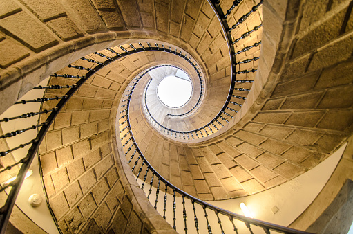 Spiral staircase in Galizia-Spain