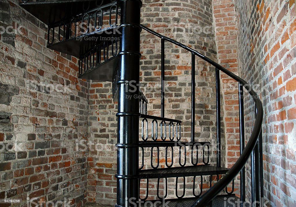 Spiral staircase* royalty-free stock photo