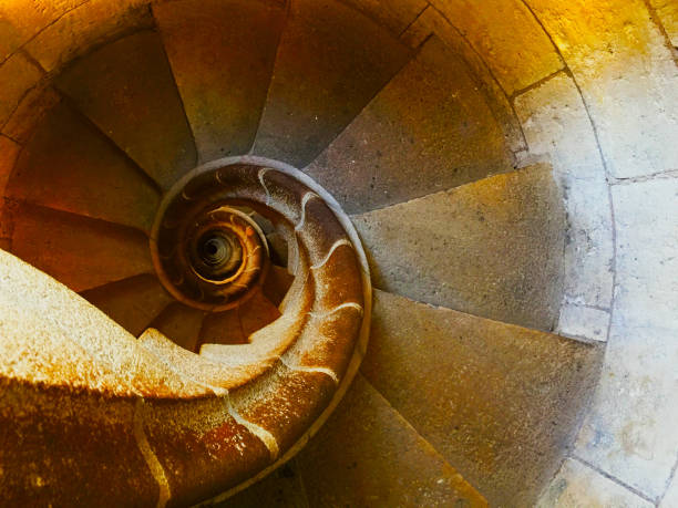 spiral stairs fibonacci - golden ratio стоковые фото и изображения