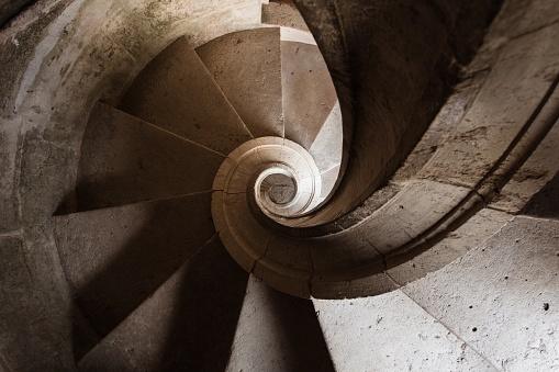 Spiral stairs in Convento de Cristo, Tomar, Portugal