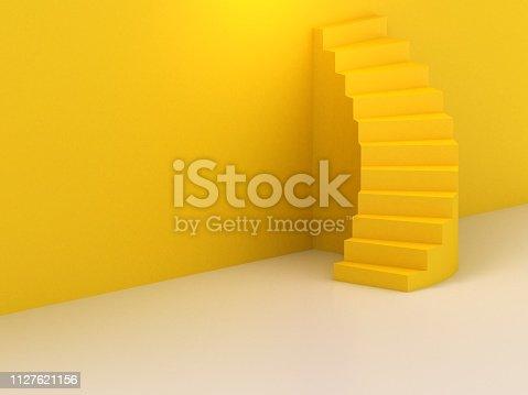 1154986671 istock photo Spiral stairs 1127621156
