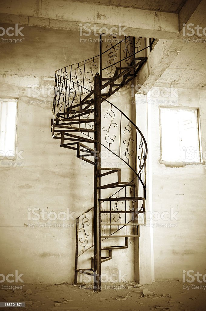 Spiral stairs royalty-free stock photo