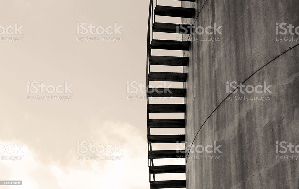 Spiral Stairs Profile Royalty Free Stock Photo