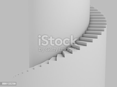 istock Spiral stairway as background 3d illustration 899103258