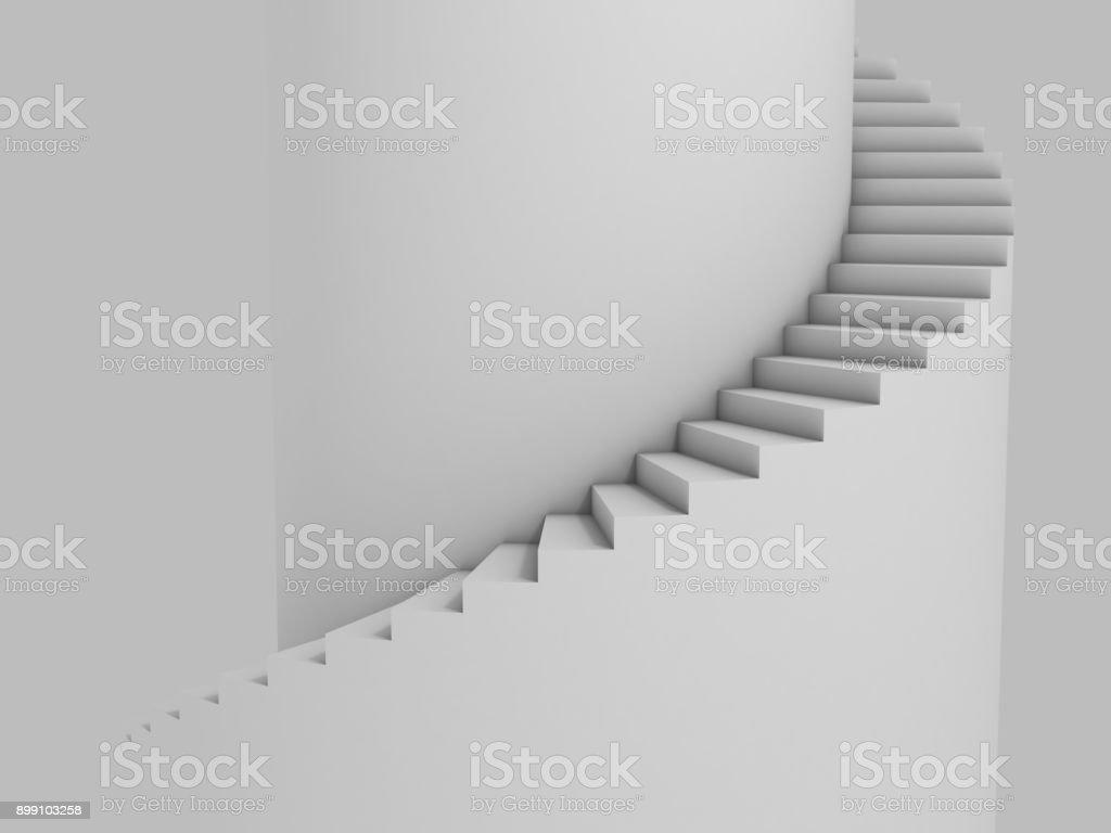 Escada espiral como ilustração 3d de fundo - foto de acervo