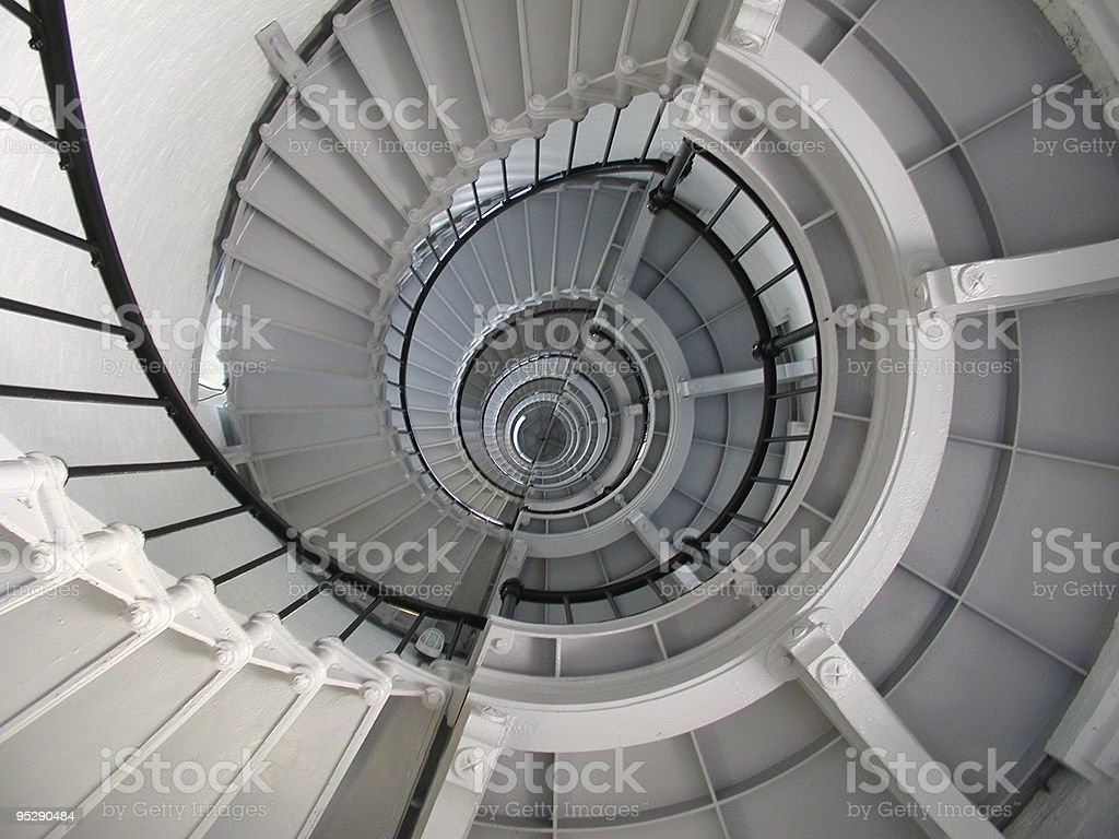 Spiral Stairway in Ponce De Leon Lighthouse Interior stock photo