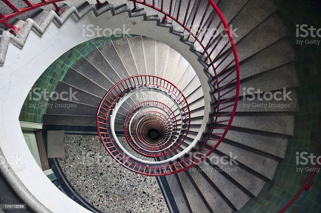 Spiral stairway royalty-free stock photo