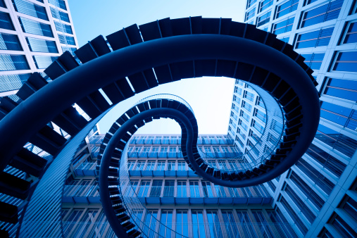 XL - spiral stairs in front of an modern office building - camera canon 5D  - unsharped RAW  - adobe colorspace