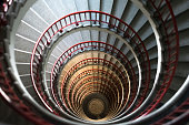 Old spiral stairway from above.
