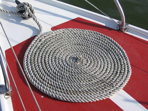 spiral string on yacht deck