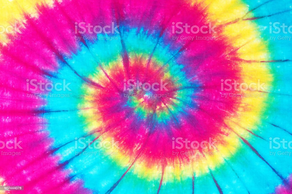 spiral tie dye pattern stock photo