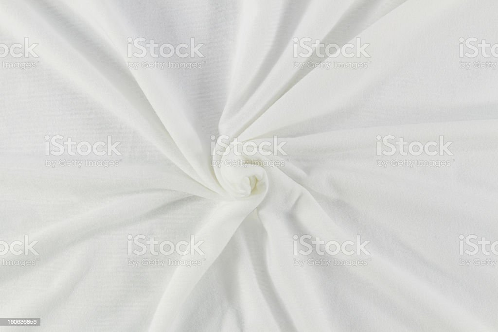 Spiral white fabric royalty-free stock photo