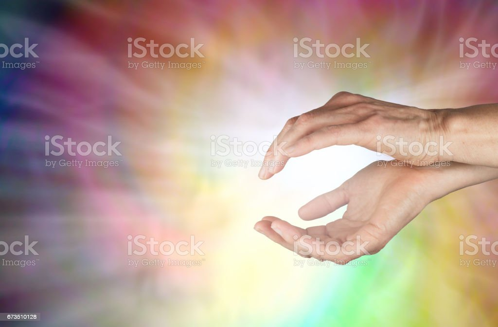 Spiraling Healing Energy stock photo