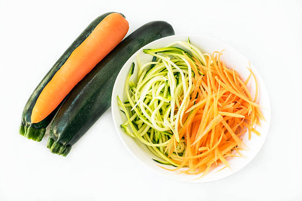 Spiralized carrot and zucchini courgettes – Foto