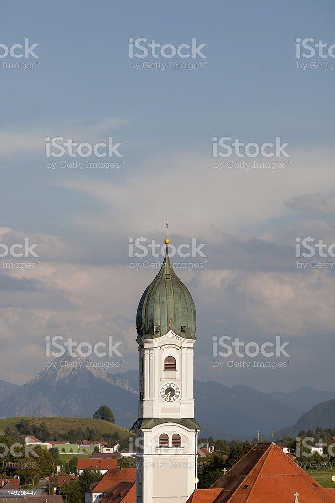 spire in Bavaria, Germany stock photo
