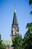 istock Spire of St. Olha and Elizabeth Church in Lviv, Ukraine 1214997608