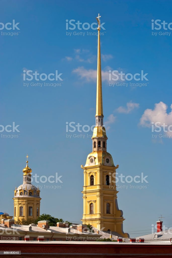 Spire of the Cathedral. stock photo