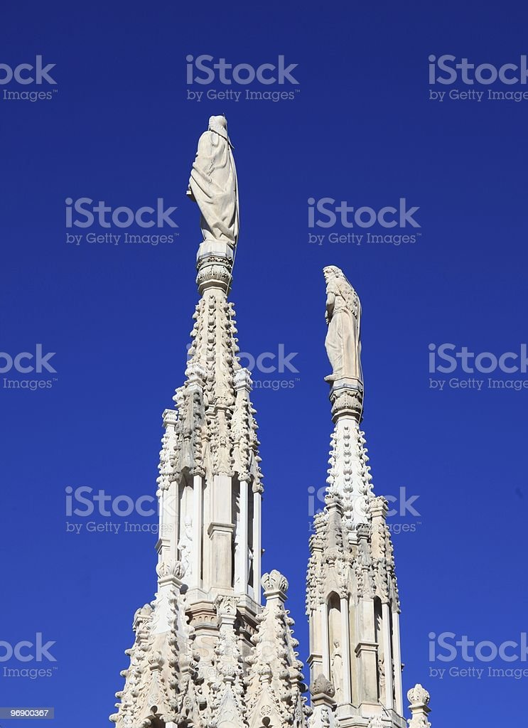 Spires on blue sky background royalty-free stock photo