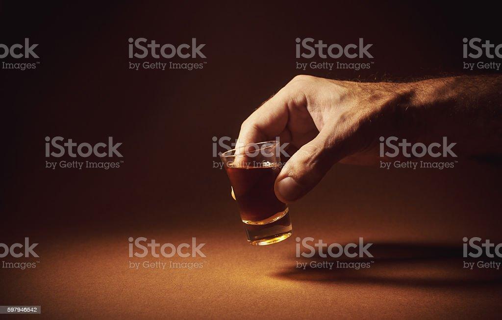 Spirit Drink an a Glass foto royalty-free