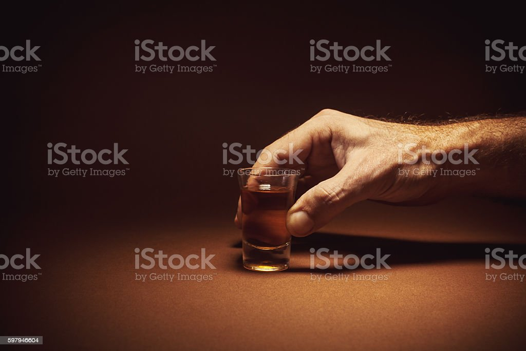 Spirit Drink an a Glass foto royalty-free