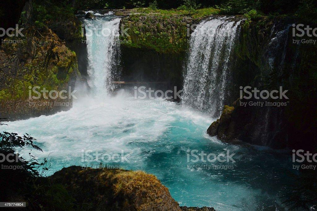 Spirit Falls Sapphire stock photo
